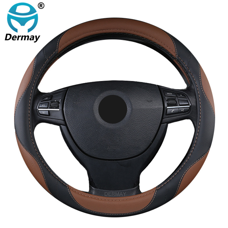 DERMAY Steering Wheel Cover Auto Handle Cover Artificial Leather Steering Wheel Collar for car / truck / SUV general 38 cm рюкзак keddo keddo ke037bwarpg6