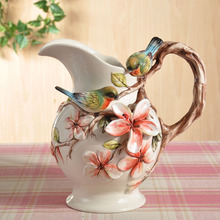 ceramic cerative bird lovers flowers vase coffee pot home decor crafts room weeding decorations handicraft porcelain figurines