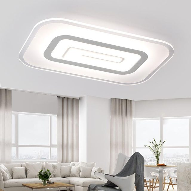 40W Led Big Lamp Modern Acrylic Ceiling Lights Bedroom Living Room Kitchen Hallway Indoor Home Lighting