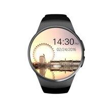 2016 El Más Nuevo Reloj Inteligente KW18 Pantalla IPS bluetooth smartwatch Del Ritmo Cardíaco del Deporte de Fitness Tracke Para IOS Android
