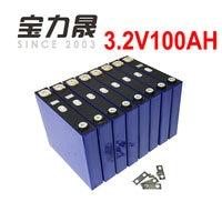 8PCS 3.2V 100Ah LiFePO4 12V 12.8V 24V Long LifeCycles 3500 Times 1C For 12V Solar Energy Storage Battery pack catl more 102AH
