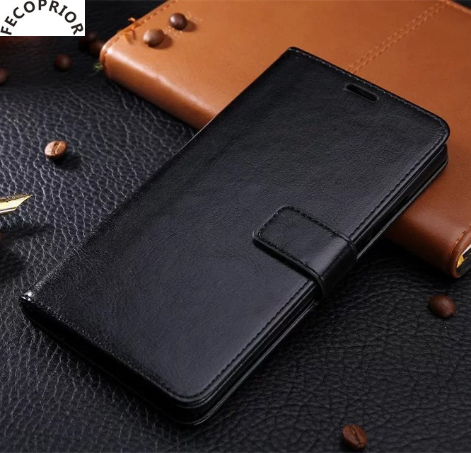 Fecoprior P8Lite 2017 For HUAWEI P8 Lite 2017 Case Back Cover Stand Leather Filp Wallet Card Hold Capa Coque Fundas Celulars