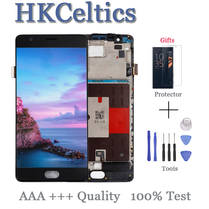 """5.5"""" FHD for Oneplus 3T A3000 A3003 LCD Display+Touch Screen Digitizer+Frame Assembly Version Oneplus 3 LCD Screen Replacement"""