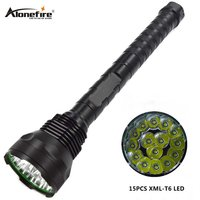 AloneFire HF15 Super Bright Powerful Flashlight T6 18000 Lumens High Power LED Tactical Defense LED Torch Light