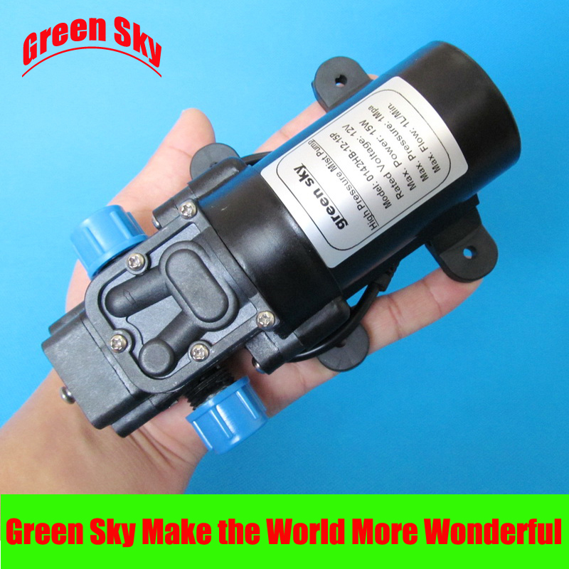 1L/min 12V DC 15W 1Mpa mist fog spray maker high pressure sprayer pump 1l min 12v dc 15w 1mpa high pressure pump mist fog spray maker electric sprayer diaphragm pump