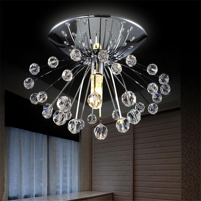 Desain modern kristal chandelier lampu fixture mini cristal lustre led lampu untuk rumah dalam ruangan porch
