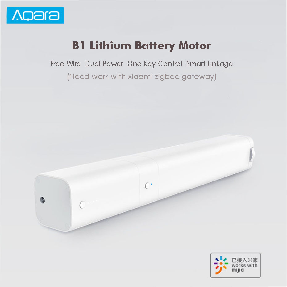 Xiaomi Aqara B1 Lithium Battery Motor,WIFI/Voice/Mi Home APP Control,Work With Xiaomi Zigbee Gateway,Mijia Smart Curtain System