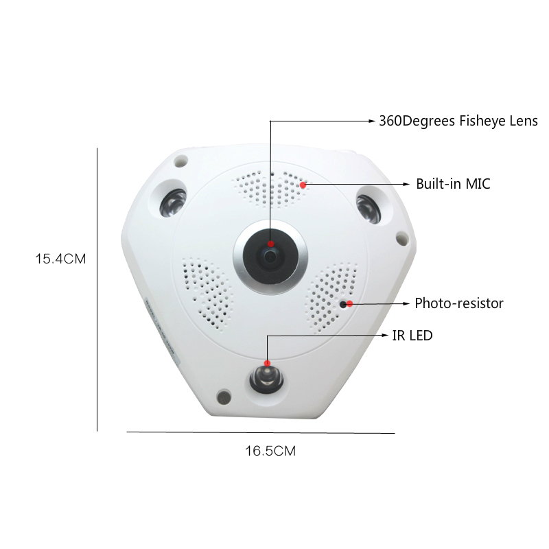 Camhi 4G WiFi 3.0MP HD surveillance network IP camera Onvif H.264 P2P security indoor 36 ...