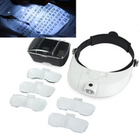 Hight Quality 81001 G 2 Detachable LED Headband Illuminated Magnifier With 5 Replaceable Lens Head Mounted