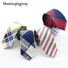 Mantieqingway Striped Plaid Ties for Men Fashion Business Skinny 6cm Bow Neck Tie Casual Wedding Gravata