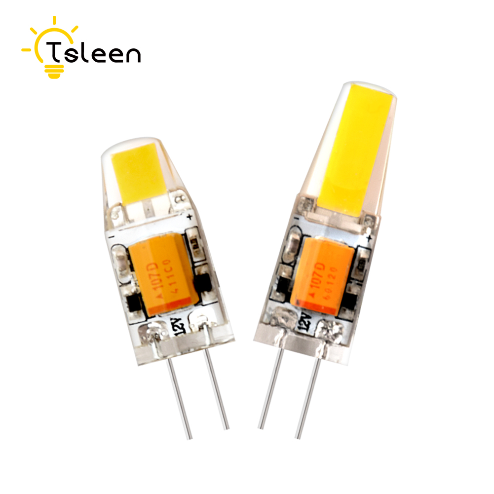 TSLEEN 8pcs/lot G4 LED Lamp AC DC 12V Mini Lampada LED Bulb G4 3W 6W COB Chip Light 360 Beam Angle Lights Replace Halogen Lamps
