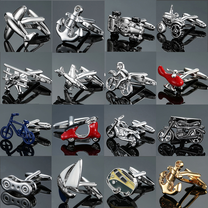 DY New High Quality Brass Material High-grade Car Motorcycle Airplane Cufflinks Fashion Men's Shirts Cufflinks Free Shipping