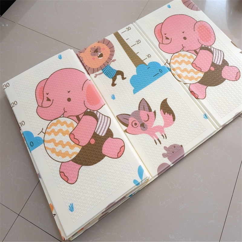 XPE Folding Toy Crawling Mat 1.8*2.0M Foam Two-Sided Pattern Baby Climbing Mat ChildrenThickening Game Pad Living Room Home Mat