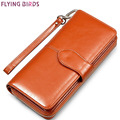 FLYING BIRDS wallet for women wallets brands purse dollar price 2016 new designer purses card holder coin bag female LS4917fb