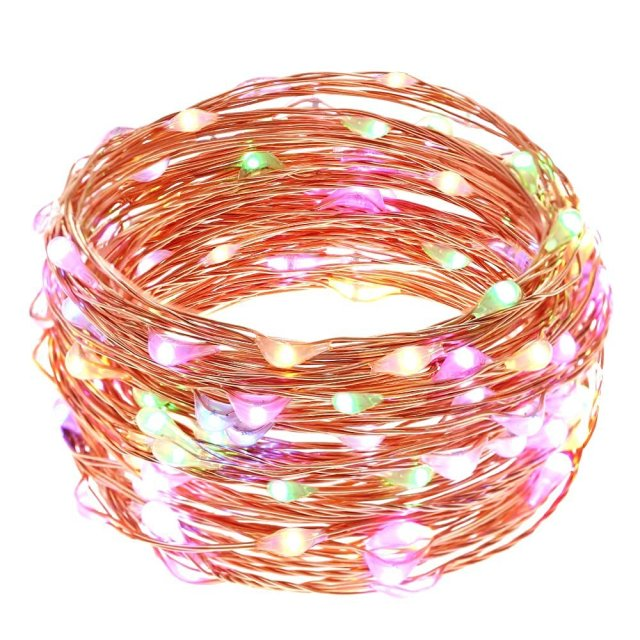 2pcs string lights micro 100 leds super bright led rope lights 2pcs string lights micro 100 leds super bright led rope lights battery operated long thin mozeypictures Image collections