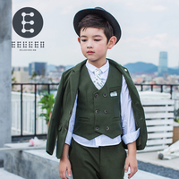 2017 Boys Formal Suits for Weddings Brand England Style Man Child Black Party Tuxedos Boys Formal Suits Blazer+Pants+Vest
