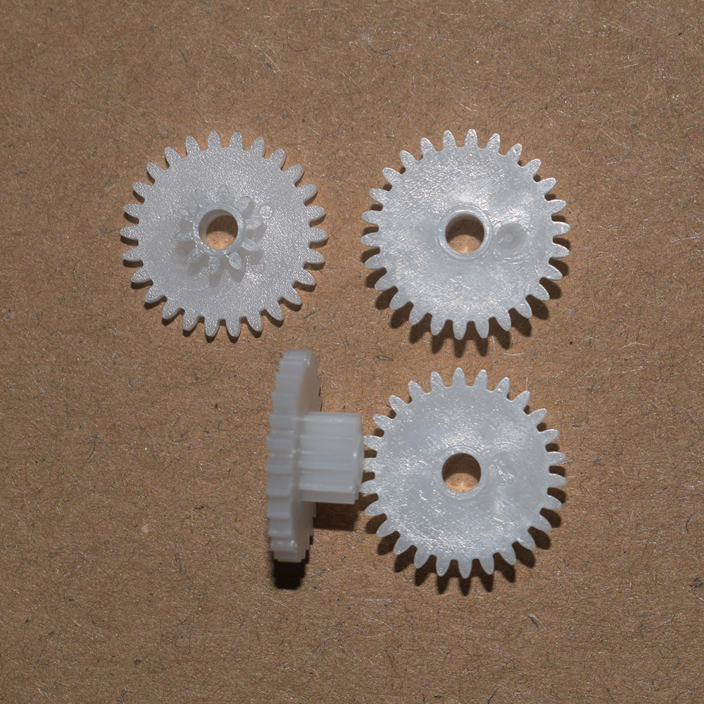 30pc 26+10T/0.5M 2.55 hole plastic motor gear/Reducer gear/rc car/DIY toys accessories/technology model parts/baby toys/26102.5B