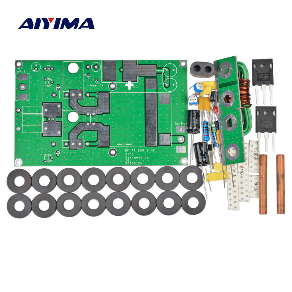 Aiyima 180W Linear Power Amplifier Amp Kits For Transceiver Intercom Radio HF FM Ham aiyima 42db 1mhz 800mhz 433mhz rf uvf linear power amplifier hf fm