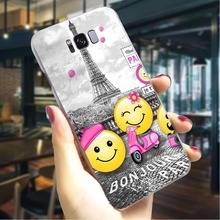Eiffel Tower  Hard Case for SamsungGalaxy A5 2017 Fashion Phone Cover for Samsung Galaxy A6 Plus A7 A8 Plus A9 A10 Cases Skin eiffel tower pattern plastic back case for samsung i9500 light green