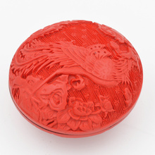 Exquisite Chinese Flower Red Cinnabar Lacquer Flowers and Phoenix Auspicious Jewelry Box exquisite chinese flower red cinnabar lacquer beautiful flower auspicious jewelry box