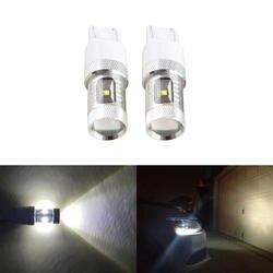 Прямой покрой для VW Passat Для Жук днем Бег DRL огни 2012-до 30 Вт 6500 К белый светодиод замена лампы автомобиль-Стайлинг