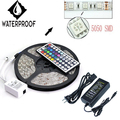 5M SMD RGB 5050 IP65 Waterproof LED Strip light Set 300 44 Key Remote 12V Supply Power EU US plug FREE Shipping