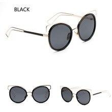 Nuevo Espejo Plano Lente Ojo de Gato gafas de Sol de Las Mujeres Clásico Diseñador de la Marca de Doble Vigas Marco de Oro Rosa Gafas de Sol Gafas Gafas