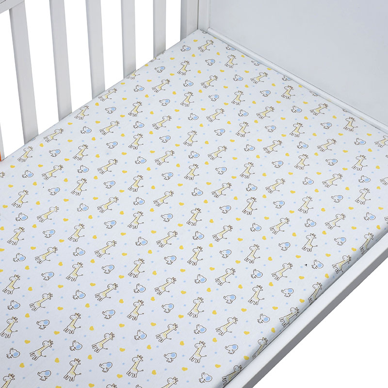 EGMAO BABY100% Cotton Percale Fitted Portable/Mini Crib Sheet Bed Sheet Fitted Crib Sheet Soft Baby Bed Mattress Cover 130*70 cm