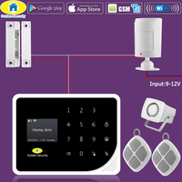 Golden Security DIY KIT S5 WIFI GSM Alarm Systems Security Home APP Control Wired PIR Motion