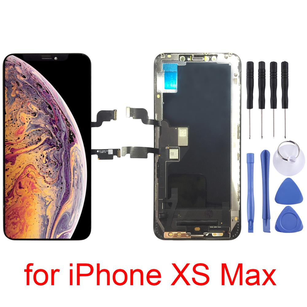 For iPhone XS Max LCD Screen and Digitizer Full Assembly Touch Screen With Digitizer Replacement Assembly Parts BlackFor iPhone XS Max LCD Screen and Digitizer Full Assembly Touch Screen With Digitizer Replacement Assembly Parts Black
