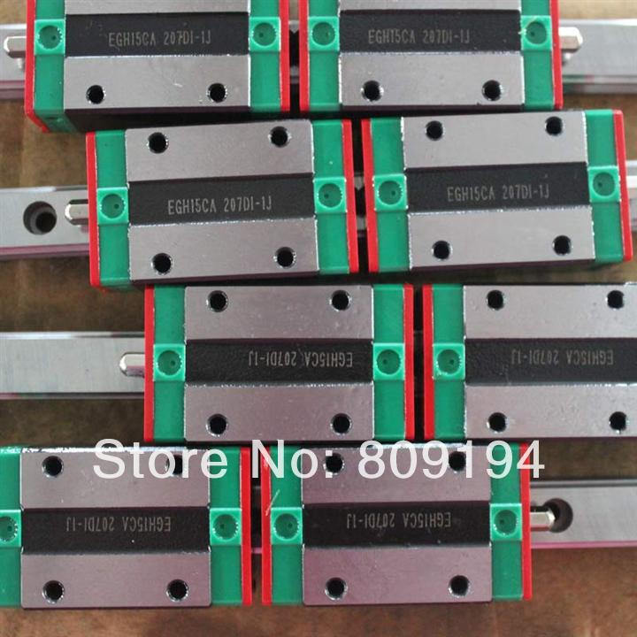 550mm HIWIN EGR20 linear guide rail from taiwan free shipping to argentina 2 pcs hgr25 3000mm and hgw25c 4pcs hiwin from taiwan linear guide rail