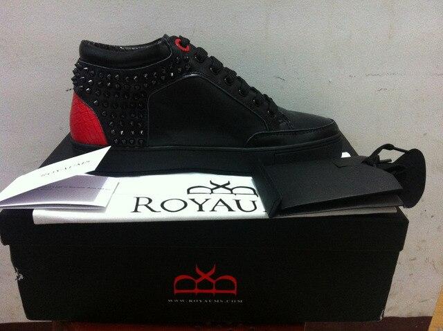 deace0d98fb 2014 nieuwe mode hoge top royaums kilian klinknagel mannen platte casual  schoenen python multi-color
