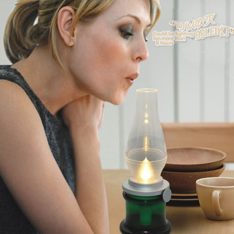 Blow Led Lamp Tea Candle Light Retro Style Electric ...