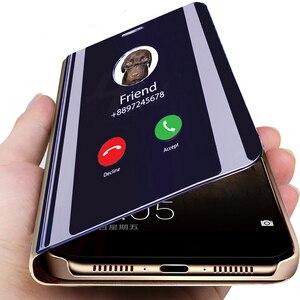 case for redmi note 7 case for xiaomi kisomi redmi note 7 cover coque on red mi note 7pro note7 mirro smart flip stand case