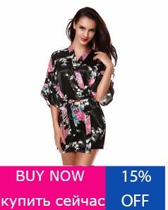 Floral-Robes-Bridesmaids-Faux-Silk-Satin-V-Neck-Nightwear-Short-Nightgown-Pajamas-Sleepwear-Kimono-Robe-With