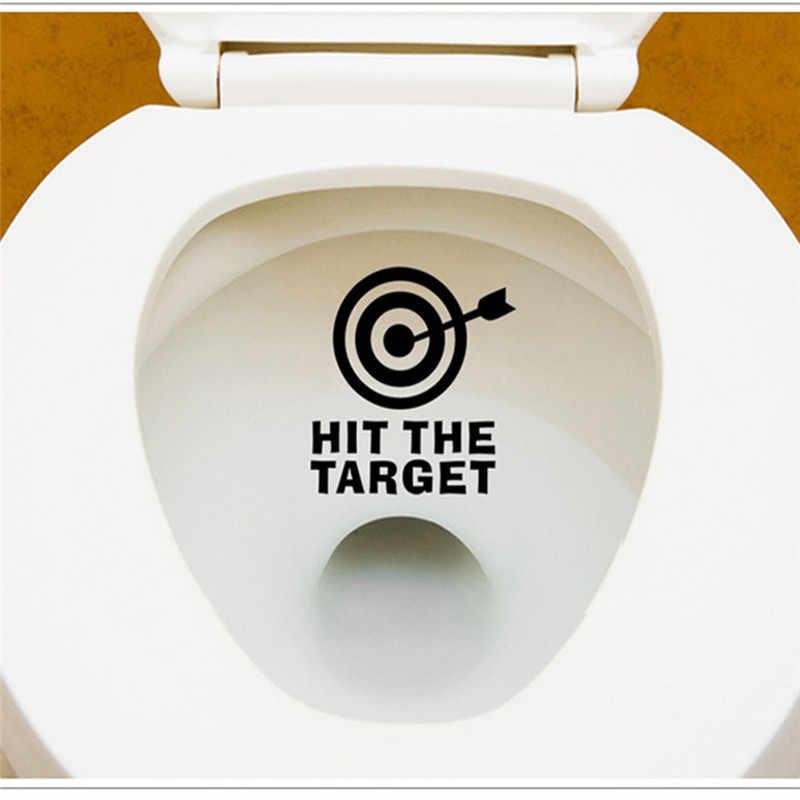 Стрела «сделай сам» и Ударь цель сиденье для унитаза наклейка для ванной водонепроницаемый письмо напоминают забавные наклейки для ванной Горячая продажа