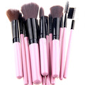 12 UNIDS/1 Paquete de Oro Rosa Negro Maquillaje Profesional Cepillo Conjunto Pinceles de Maquillaje Lápiz De Belleza Blush Contour fundación Cosméticos