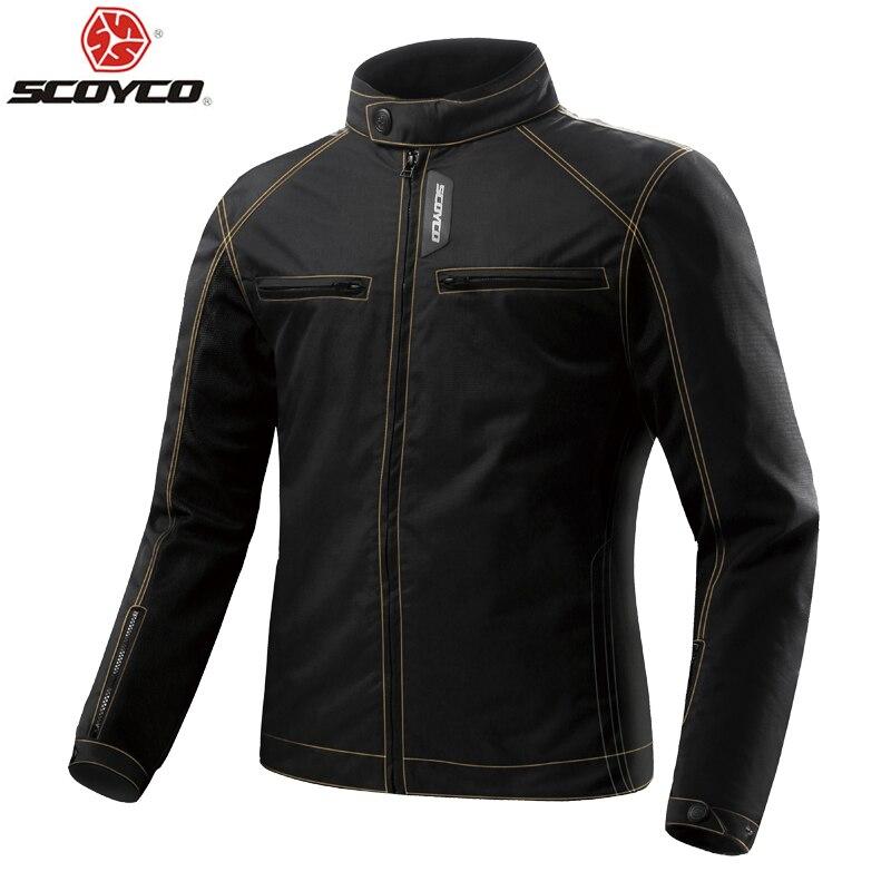 Veste de moto SCOYCO été veste de course de moto respirante avec armure de protection pour Motocross