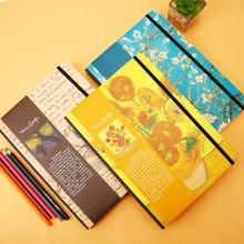 M&G Van Gogh Theme Series Notebook 16K Blank Package Ridge Hardcover Notebook Student Office Notebook APYT7G50 1PCS