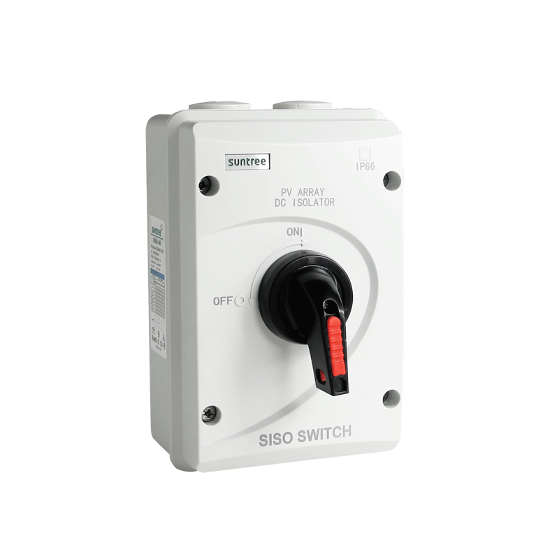 DC 1000V 32A SISO PV DC Isolating Switch for Solar System ON OFF Transer IP66 Waterproof