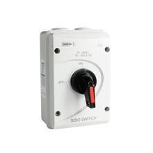 DC 1000 V 32A SISO PV DC Izolasyon Anahtarı Güneş Sistemi ON OFF Transfer IP66 Su Geçirmez Izolatör Anahtarı ABS Kutusu ile