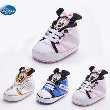 Disney bebé niñas zapatos de princesa zapatos de dibujos animados lindo Minnie Rosa niños Mickey suave zapatos de bebé recién nacido