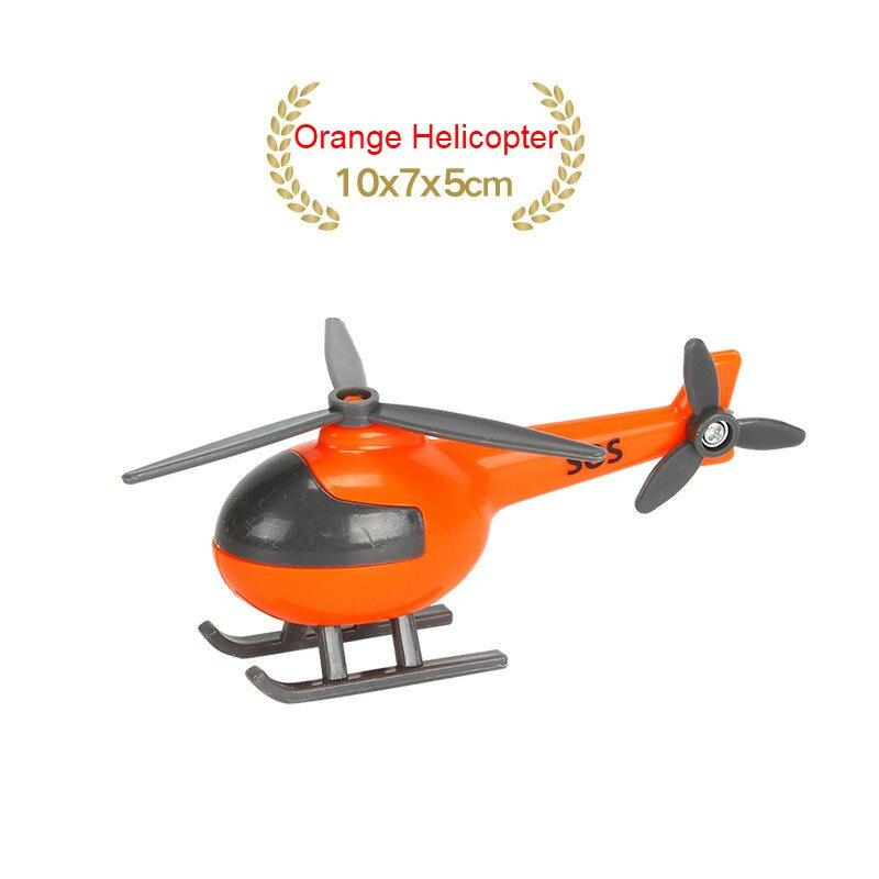 EDWONE деревянный магнитный Поезд Самолет деревянная железная дорога вертолет автомобиль грузовик аксессуары игрушка для детей подходит Дерево Biro треки подарки - Цвет: NO 26 Orange Helicop