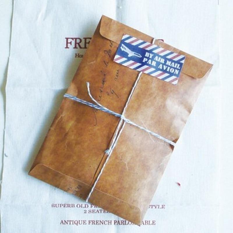 10 Pcs/lot Vintage Kraft Wax Envelopes Wedding Invatate Envelope Postcard Cover Sobres Papel Stationery Zakka Gift