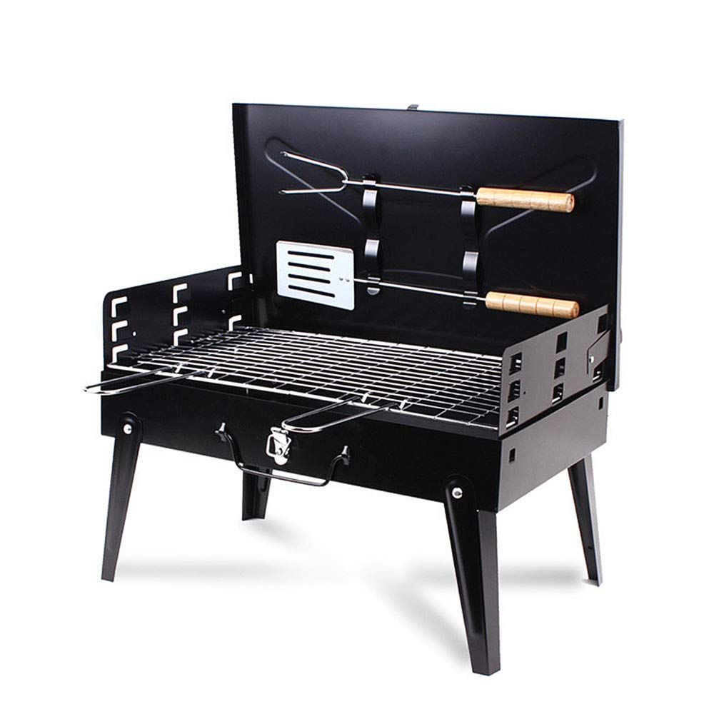 Portable BBQ Charcoal Grill Set with Fork Spatula Small Barbeque Grills for Cooking Picnic CampingPortable BBQ Charcoal Grill Set with Fork Spatula Small Barbeque Grills for Cooking Picnic Camping