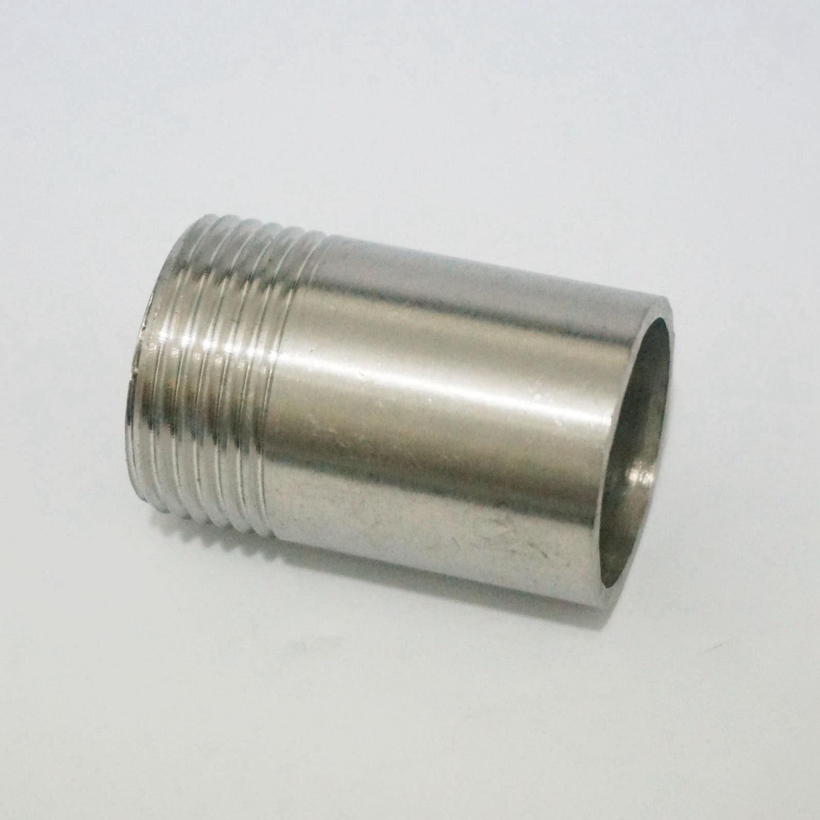 "1/"" BSP Hembra Longitud 100 mm 304 ss Tubo Montaje Conector de Soldadura Pezón agua"