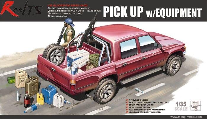 Meng VS-002 1/35 scale Pickup w/Equipment