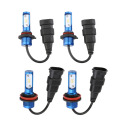2 pcs High Brightness 50W 6000LM 9005/9006/H8/H9/H11 LED Light Headlight Vehicle Car Hi/Lo Beam Bulb Kit 6000K Blue IP68