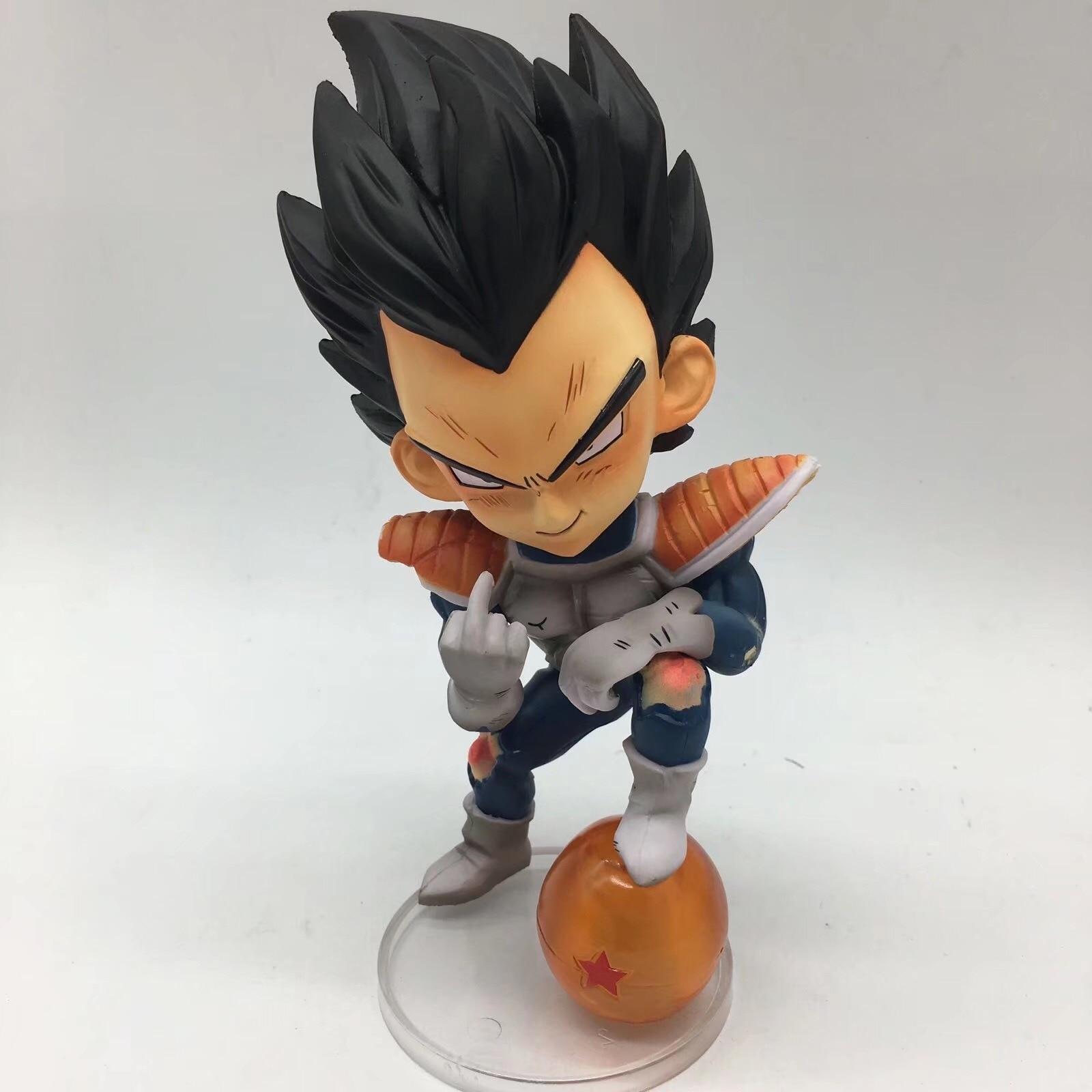 Dragon Ball Z Vegeta Funny Middle Finger Super Saiyan Figure Model Toys