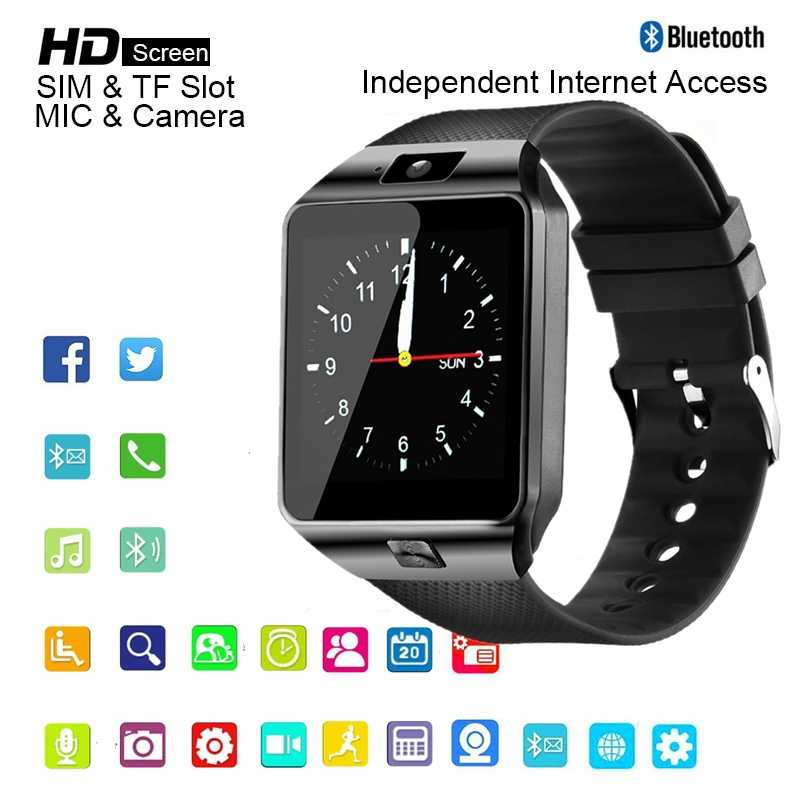 DZ09 Smart Watches 2019 Man Smartwatch Bluetooth Connect Watch Men's Digital Clock Android SIM TF Card for iPhone Samsung HUAWEI